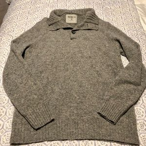 Grey oversized pullover sweater
